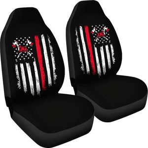 Firefighter Axe Flag Car Seat Covers