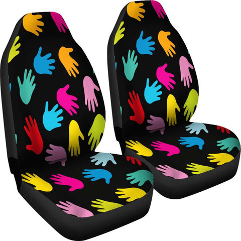 Image of Autism Hands Car Seat Covers