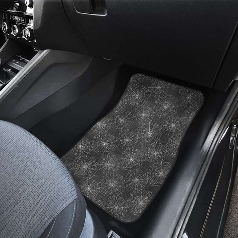 Image of Spider Web Front Car Mats Set Of 2