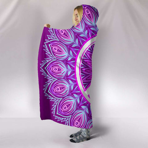 Image of Purple Peace Hooded Blanket