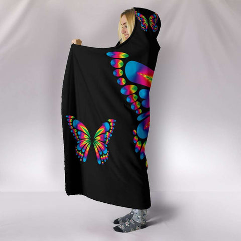 Autism Awareness Butterfly Hooded Blanket