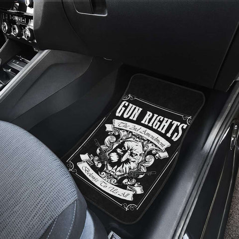 Gun Rights 2nd Amendment Front Car Mats
