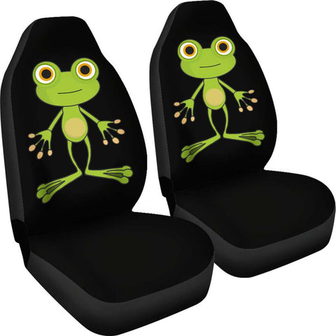 Image of Green Frog Car Seat Covers
