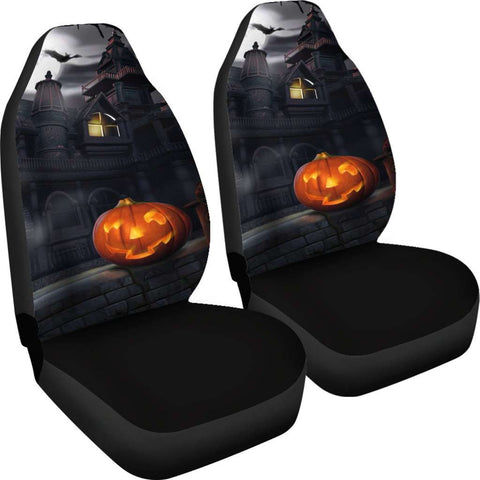 Image of Spooky House Halloween Car Seat Covers