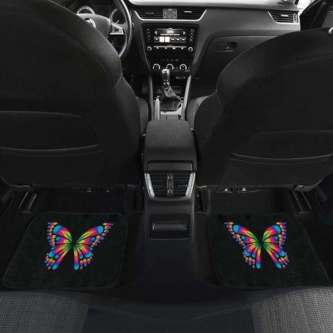 Autism Awareness Butterfly Front And Back Car Mats set of 4