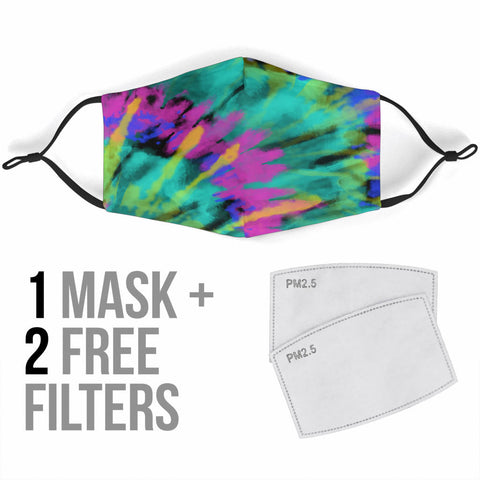 Tie Dye Face Mask With Filters