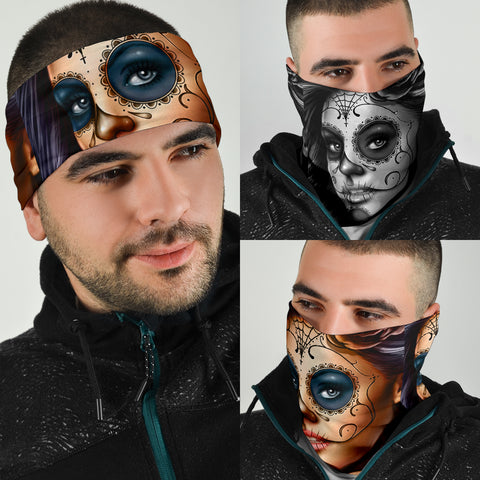 Day Of The Dead Bandana Face Mask