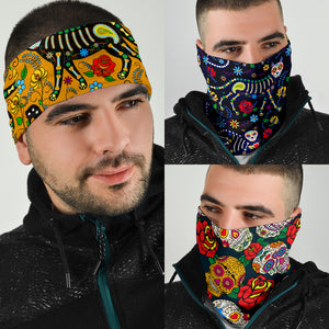 Sugar Skull Bandana Face Mask
