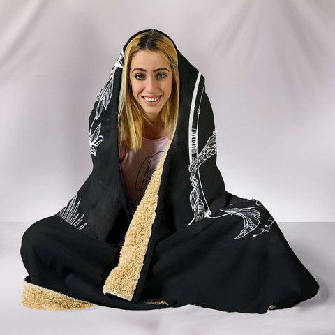 Image of Sun and Crescent Moon Hooded Blanket