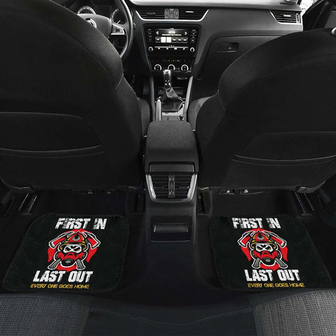 Firefighter First In Last Out Car Mats Set of 4