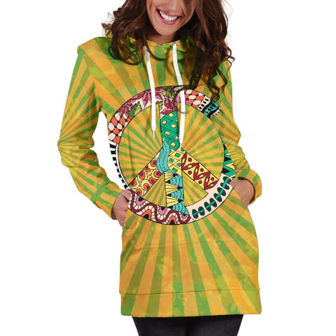 Image of Hippie Peace Women's Hoodie Dress