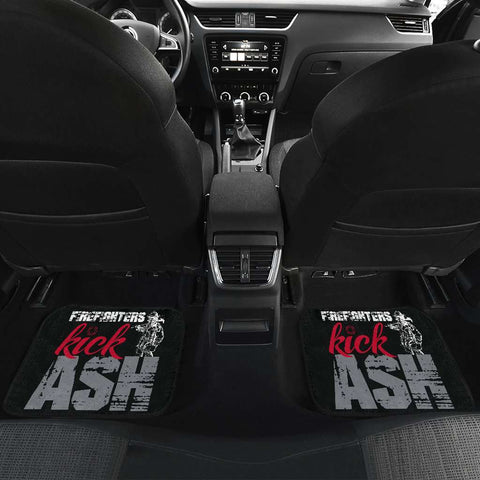 Image of Firefighter Kick Ash Front And Back Car Mats Set Of 4