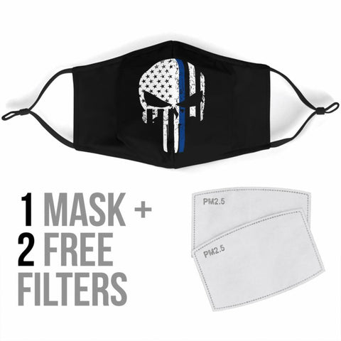 Face Masks With Filters Punisher Skull