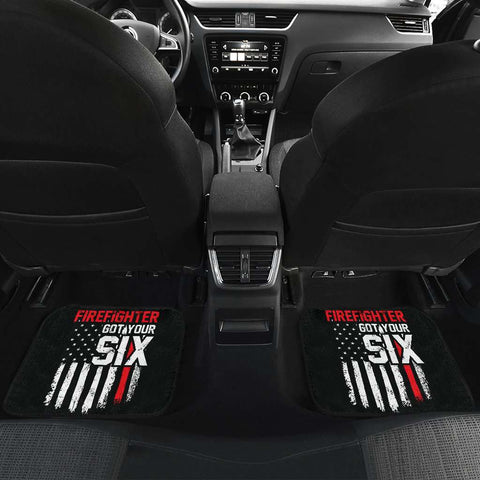 Firefighter Got Your Six Front And Back Car Mats Set Of 4