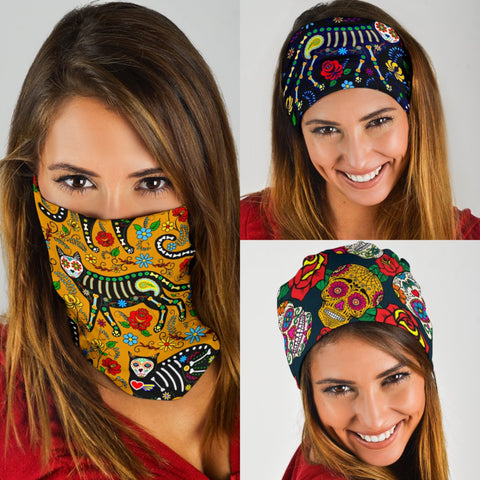 Image of Sugar Skull Bandana Face Mask