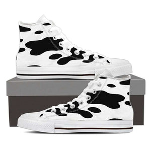 High Top Canvas Cow shoe