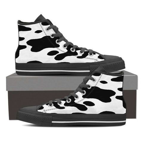 Image of High Top Canvas Cow shoe