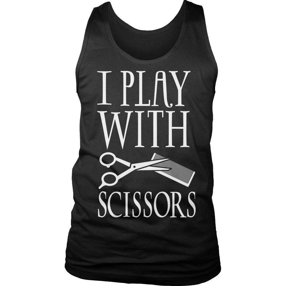 I Play With Scissors T Shirt-Hi Siena