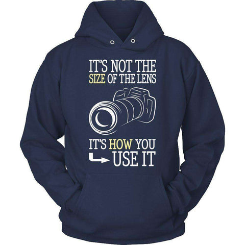 Image of It's Not The Size Of The Lens But How You Use It T Shirt
