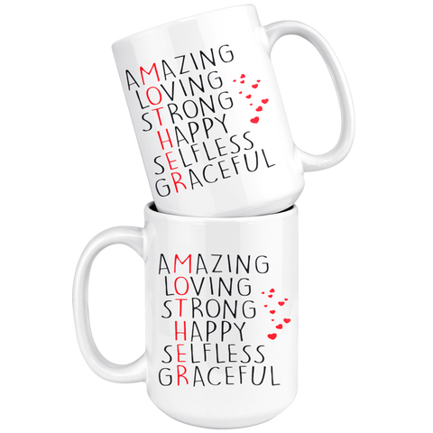 Image of Amazing Loving Strong Happy Mug