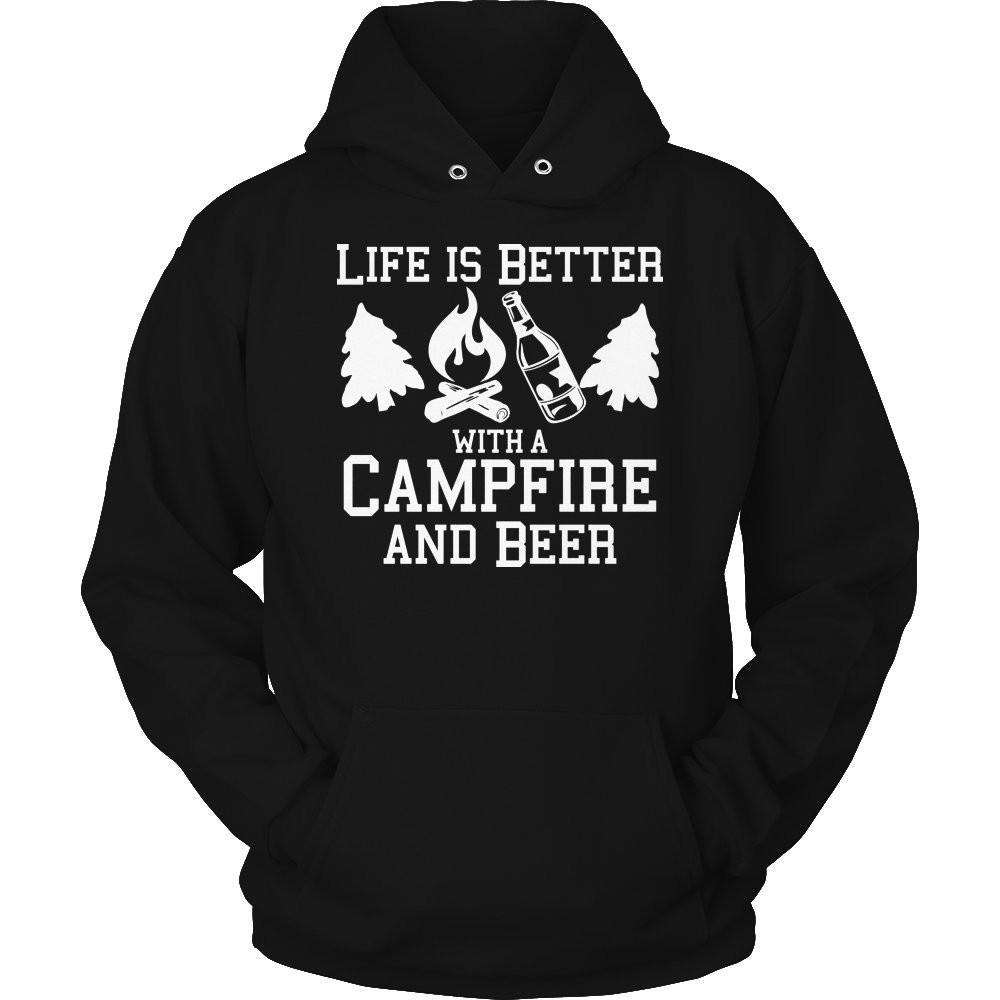 Life Is Better With A Campfire and Beer T Shirt