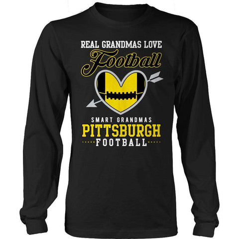 Image of Limited Edition - Real Grandmas Loves Football- Pittsburg- Black
