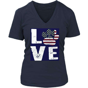 Love Dog Flag T Shirt