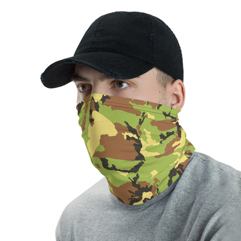 Camo Pattern Green Neck Gaiter
