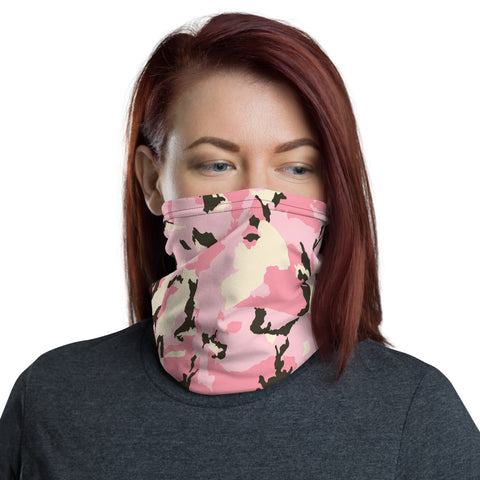 Image of Camo Pattern Pink Neck Gaiter
