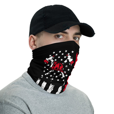 Firefighter Flag Bandana Face Mask, Dust Face Mask, Adults Face Mask, Firefighter Face Mask Flag,Flag Face Mask Bandana Reusable Mask