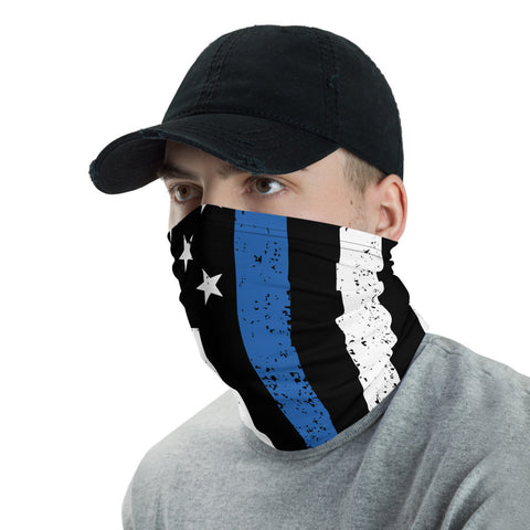 Bandana Face Mask Police Flag Bandana Face Mask Dust Face Mask, Face Mask Police Thin Blue Line, Bandana Police Flag Face Mask Reusable Mask