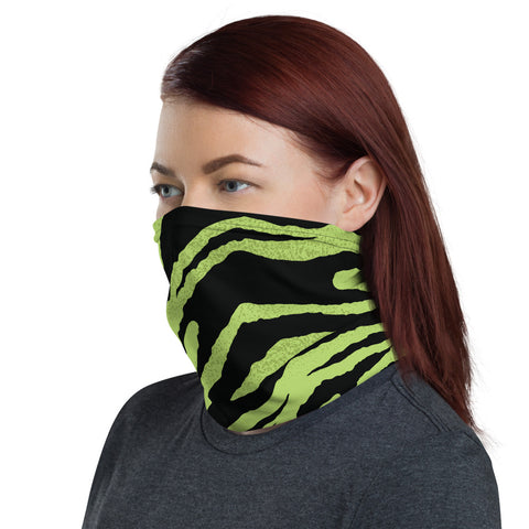 Green Tiger Neck Gaiter Bandana Face Mask