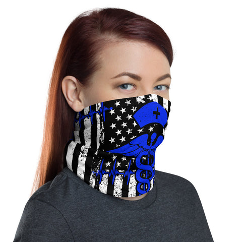Nurse Bandana Flag Face Mask, Dust Face Mask, Bandana Face Mask, Face Mask, Nurse Mask Flag Bandana Flag Face Mask Reusable Mask Nurse Flag