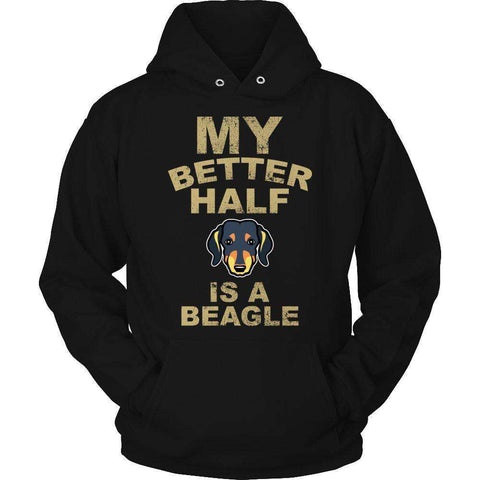 Image of My Better Half is a Beagle T Shirt