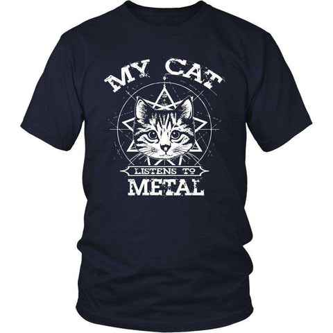 My Cat Listens To Metal T Shirt