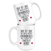 Side By Side Or Miles Apart Grandkids Will Always Be Connected By Heart Mug