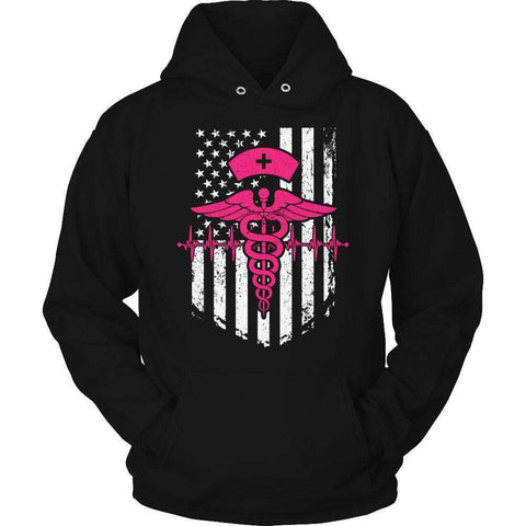 Image of Nurse Flag Pink Symbol T Shirt
