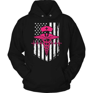 Nurse Flag Pink Symbol T Shirt