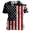 USA Flag Faded T Shirt