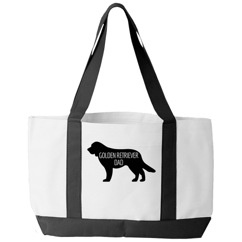 Golden Retriever Dad White Tote