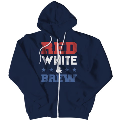 Red White and Brew Beer Hoodie