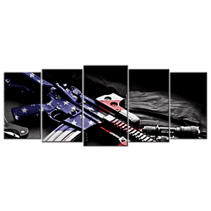 American Pride Wall Art- 5 panels