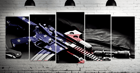 Image of American Pride Wall Art- 5 panels