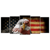 Rustic Eagle Flag Canvas Wall Art 5 panels