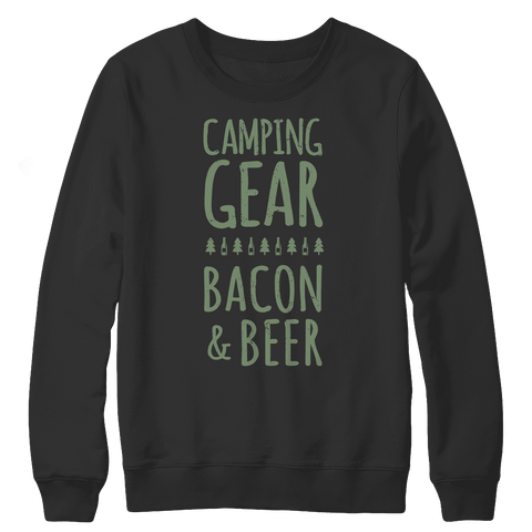 Image of Camping Gear Bacon And Beer Shirt