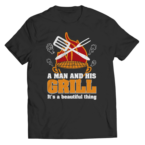 A Man And His Grill It's A Beautiful Thing BBQ T Shirt