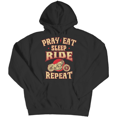 Pray Eat Sleep Ride T Shirt