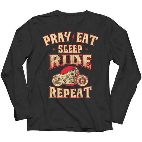 Image of Pray Eat Sleep Ride T Shirt