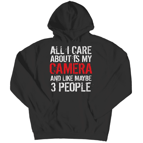 Image of All I Care About Is My Camera T Shirt