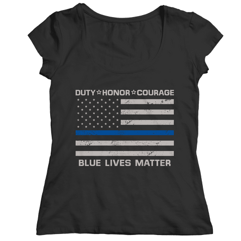 Blue Lives Matter Police Flag T Shirt